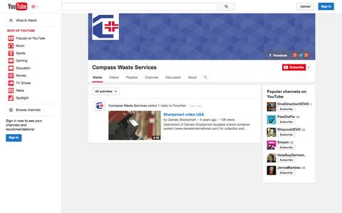 Screenshot of YouTube Page youtube.com - Compass Waste Services  - YouTube - captured Oct. 22, 2014