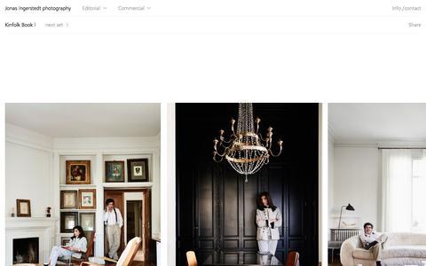 Screenshot of Home Page ingerstedt.se - Jonas Ingerstedt photography - Interior Editorial & Commercial photography - Stockholm - captured Nov. 27, 2016