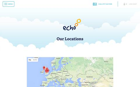 Screenshot of Locations Page echo-ms.com - Echo Site Locations and Directions | Echo Managed Services - captured Jan. 25, 2016
