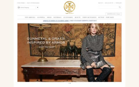 Screenshot of Home Page toryburch.co.uk - Tory Burch | Women's Clothing, Dresses, Shoes, Handbags & Accessories - captured Sept. 23, 2014