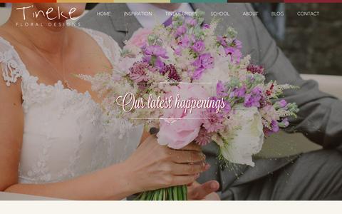 Screenshot of Blog tinekefloraldesigns.co.uk - Blog Archives — Tineke Floral - captured Jan. 13, 2016