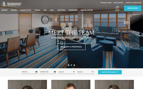Screenshot of Team Page semiahmoo.com - Washington State Resort Team | Event Venues in Washington State | Semiahmoo - captured Oct. 10, 2018