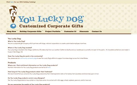Screenshot of FAQ Page yldinc.com - Customer Service - captured Oct. 27, 2014