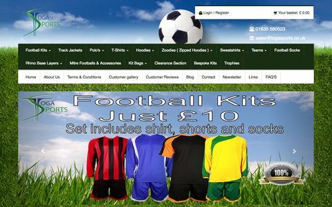 Screenshot of Home Page togasports.co.uk - Cheap Football Kits | Toga Sports - captured Sept. 19, 2014