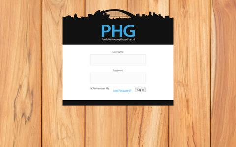 Screenshot of Login Page phgaustralia.com - PHG Log In - captured Dec. 6, 2015