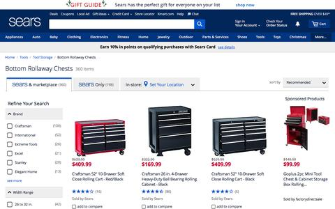 Rolling Tool Chests | Bottom Rollaway Chests - Sears