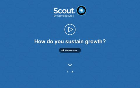 Screenshot of Home Page scoutanalytics.com - Research, Analysis, and Articles on Subscription Economy | Scout - captured July 11, 2014