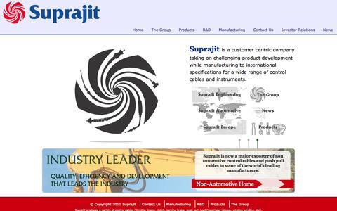 Screenshot of Home Page suprajit.com - Suprajit - captured Oct. 7, 2014