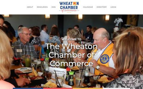 Screenshot of Home Page wheatonchamber.com - Home - Wheaton Chamber of Commerce - captured Oct. 12, 2019