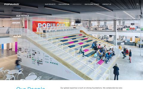 Screenshot of Team Page populous.com - Our People   Populous - captured Nov. 4, 2018