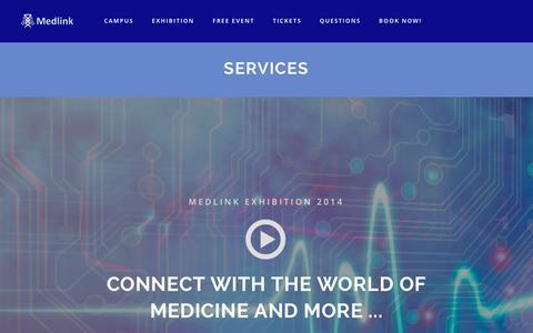Screenshot of Services Page medlink-uk.net - Services | Medlink - captured Jan. 20, 2016