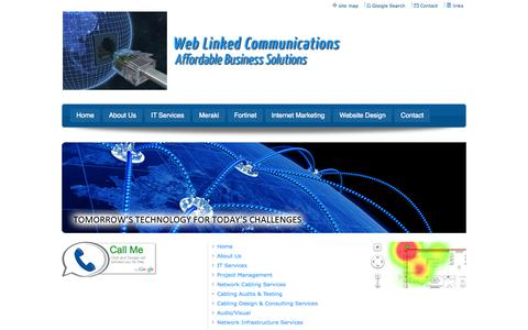 Screenshot of Site Map Page weblinkedcommunications.com - Web Linked Communications - Site Map - captured Oct. 7, 2014