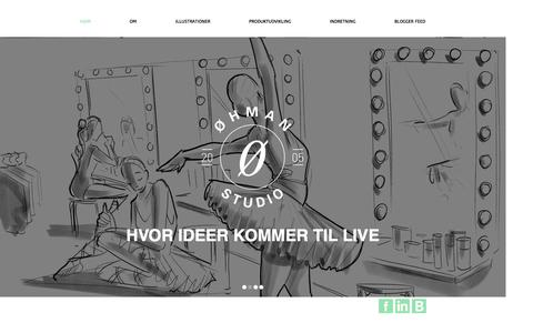 Screenshot of Home Page oehman.dk - OEHMAN Design - captured Oct. 6, 2014