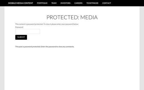Screenshot of Press Page mobilemediacontent.com - Mobile Media Content » Media - captured Oct. 26, 2014