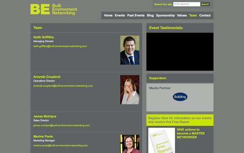 Screenshot of Team Page built-environment-networking.com - Team - Built Environment Networking Ltd - Built Environment Networking Ltd - captured Nov. 23, 2016