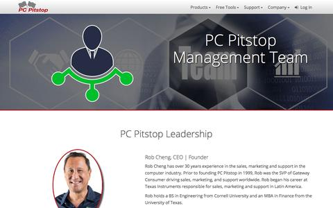 Screenshot of Team Page pcpitstop.com - Management Team | PC Pitstop - captured July 14, 2018