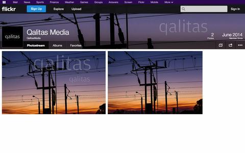 Screenshot of Flickr Page flickr.com - Flickr: QalitasMedia's Photostream - captured Oct. 22, 2014