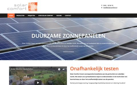 Screenshot of Home Page solarcomfort.nl - Solar Comfort - captured Nov. 11, 2017