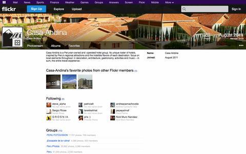 Screenshot of Flickr Page flickr.com - Flickr: Casa-Andina - captured Oct. 22, 2014