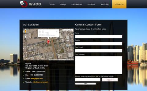 Screenshot of Contact Page wj-co.com - WJ-CO - captured Oct. 9, 2014