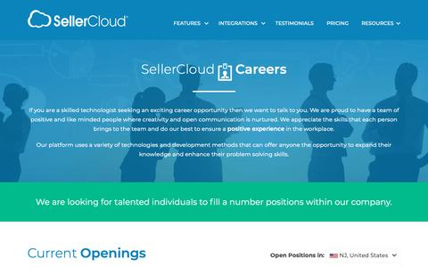 Screenshot of Jobs Page sellercloud.com - Careers: Multi Channel Ecommerce Software | Inventory Management Solution - SellerCloud - captured Feb. 16, 2019