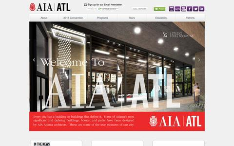 Screenshot of Home Page Privacy Page Terms Page aiaatl.org - The American Institute of Architects, Atlanta Chapter   - captured Oct. 4, 2014