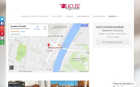 Screenshot of Contact Page agence-mytoulouse.com - ContactAgence My Toulouse | Agence My Toulouse - captured May 31, 2017