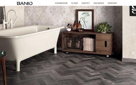 Screenshot of Home Page banio.dk - Banio.dk - 1.400 kvm. butik med fliser og bad i Valby - captured Feb. 7, 2016