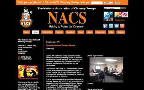 Screenshot of About Page nacs.org.uk - About NACS | NACS - captured Oct. 27, 2014