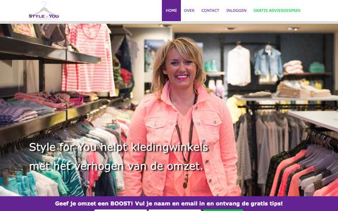 Screenshot of Home Page styleforyou.nl - Home - Style for You - captured Oct. 20, 2018