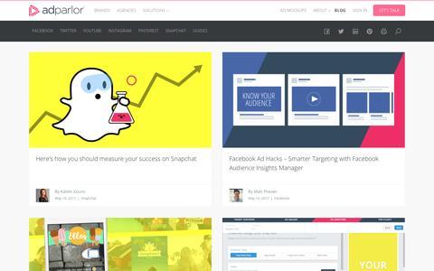 Screenshot of Blog adparlor.com - Blog | AdParlor - captured May 21, 2017