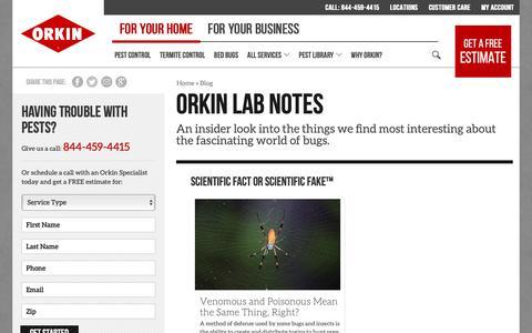 Screenshot of Blog orkin.com - Orkin Lab Notes - Orkin - captured Oct. 26, 2018