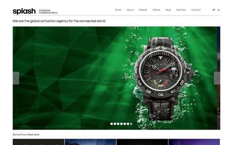 Screenshot of Home Page splashworldwide.com - Splash Worldwide- Welcome! - captured Feb. 17, 2016