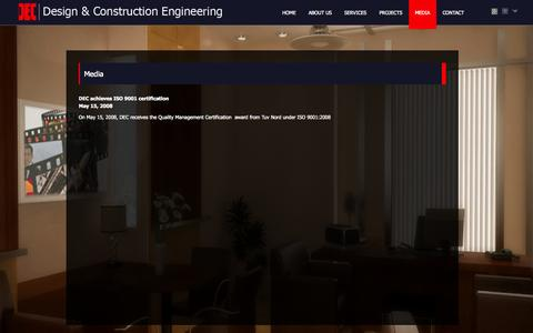 Screenshot of Press Page dec.ae - Design & Construction Engineering - Media - captured Oct. 5, 2014