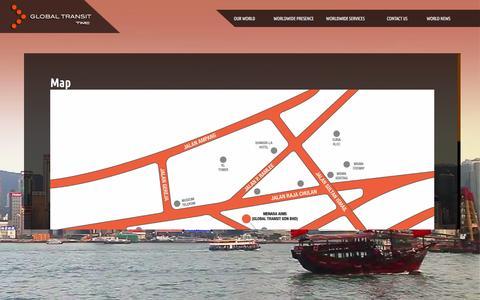 Screenshot of Maps & Directions Page globaltransit.net - Map  |  Globaltransit - captured Jan. 30, 2016