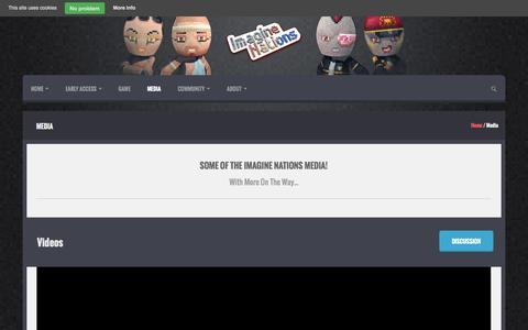Screenshot of Press Page imaginenationsgame.com - Media | Imagine Nations - captured Oct. 29, 2014