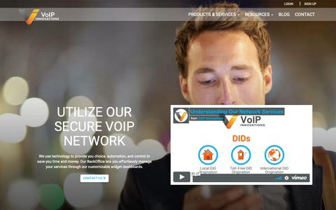 Screenshot of Services Page voipinnovations.com - Services - captured March 30, 2019