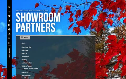 Screenshot of Site Map Page showroompartners.com - Sitemap - captured Oct. 9, 2014
