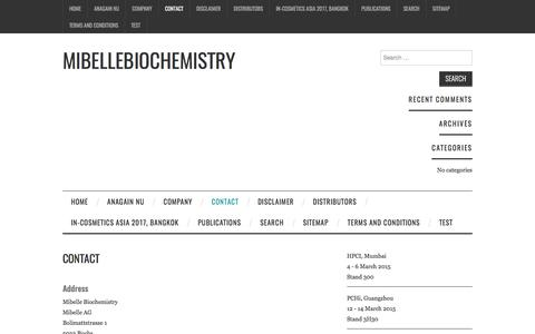 Contact – Mibellebiochemistry