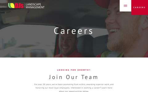 Screenshot of Jobs Page djslandscape.com - Careers - DJs Landscape Management - captured Oct. 11, 2017