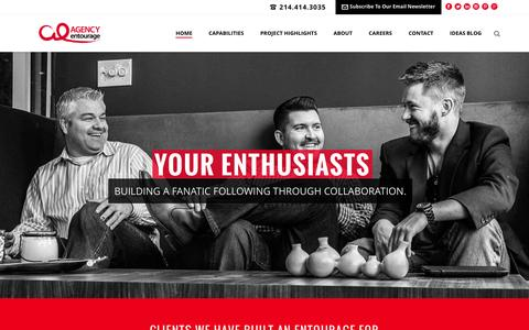 Screenshot of Home Page agencyentourage.com - Agency Entourage - captured Jan. 7, 2016