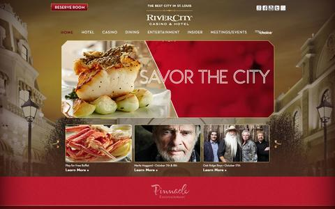 Screenshot of Home Page rivercity.com - St. Louis Casino & Hotel | Missouri » River City - captured Oct. 7, 2014