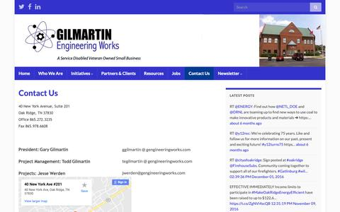 Screenshot of Contact Page gengineeringworks.com - Contact Us | Gilmartin Engineering Works - captured Sept. 28, 2018