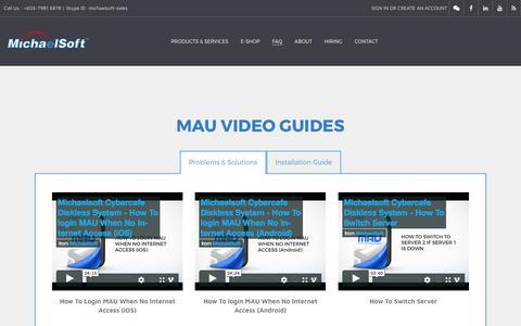 Screenshot of FAQ Page michaelsoft.com.my - FAQ & Video Guides - MichaelSoft | MAU & DDS Diskless Solutions - captured Oct. 10, 2017