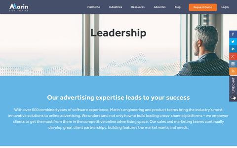 Screenshot of Team Page marinsoftware.com - Leadership – Senior Management & Board of Directors   Marin Software - captured Oct. 29, 2018