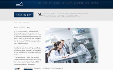 Screenshot of Case Studies Page c-tric.com - Case Studies - captured May 11, 2017