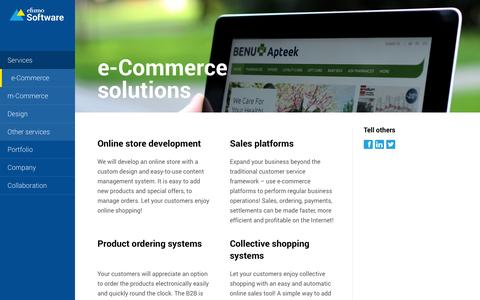 Screenshot of Services Page efumosoftware.com - E-commerce and online store development | Efumo Software - captured Oct. 2, 2014