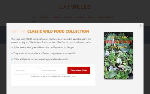 Screenshot of Home Page eatweeds.co.uk - Eatweeds - The Wild Food Guide to the Edible Plants of Britain - captured May 14, 2017