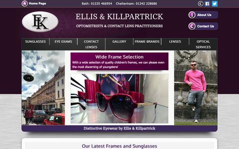 Screenshot of Home Page ellisandkillpartrick.com - Ellis & Killpartrick Opticians - Cheltenham, Bristol - captured Nov. 10, 2018