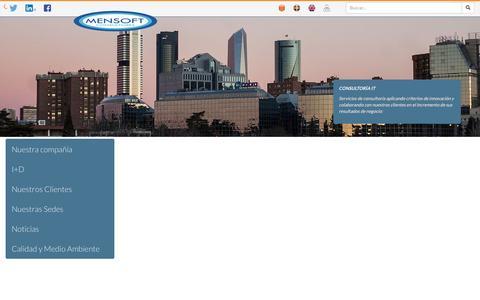 Screenshot of Home Page mensoft.es - MENSOFT Consultores - captured Feb. 12, 2016